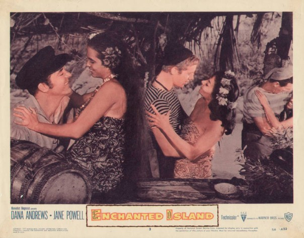 ENCHANTED ISLAND(1958) LOBBY CARD 4