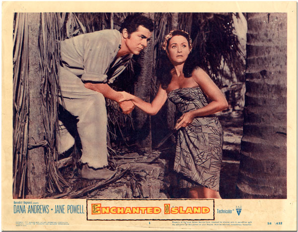 ENCHANTED ISLAND(1958) LOBBY CARD 5