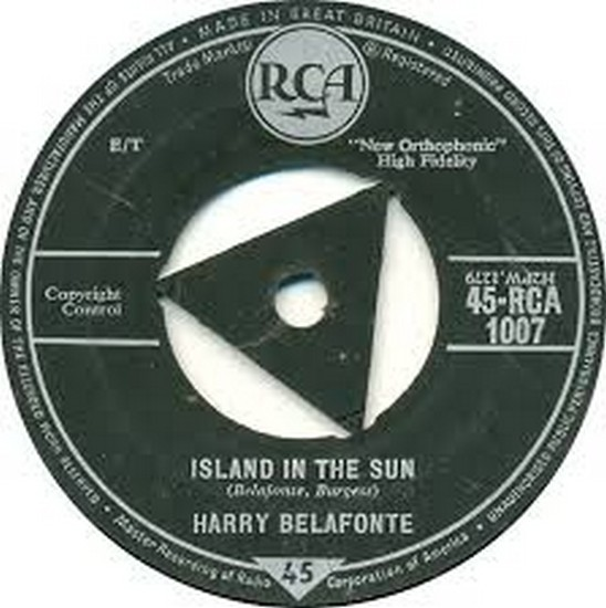ISLAND IN THE SUN(1957) 45 COVER