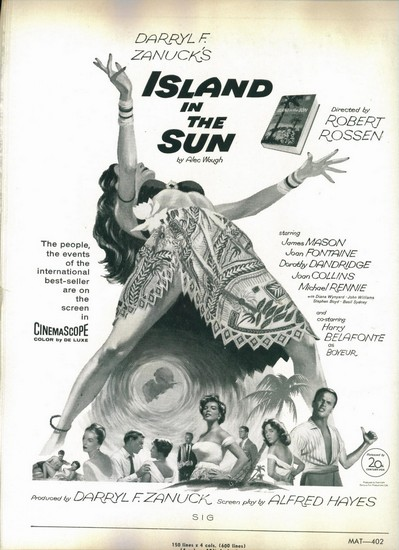 ISLAND IN THE SUN(1957) FILM POSTER 6