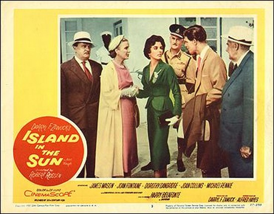 ISLAND IN THE SUN(1957) LOBBY CARD 1