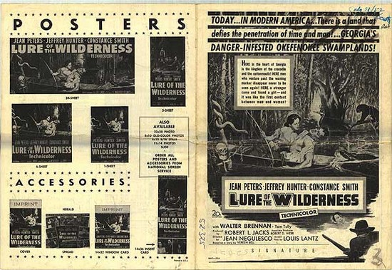 LURE OF THE WILDERNESS(1952) ADV