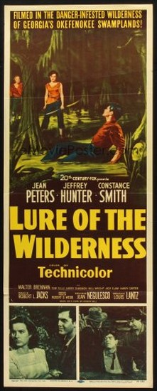 LURE OF THE WILDERNESS(1952) FILM POSTER 6