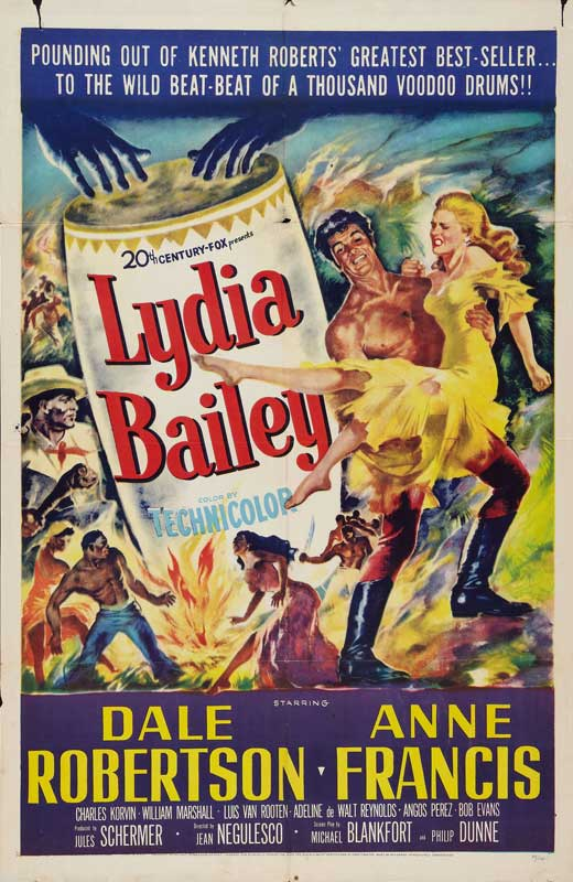 LYDIA BAILEY(1952) FILM POSTER 1