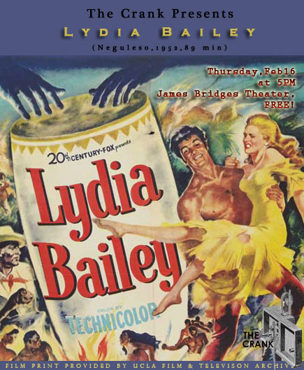 LYDIA BAILEY(1952) FILM POSTER 2