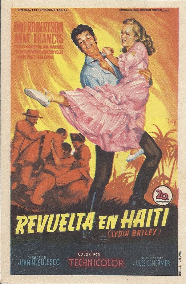 LYDIA BAILEY(1952) FILM POSTER 3