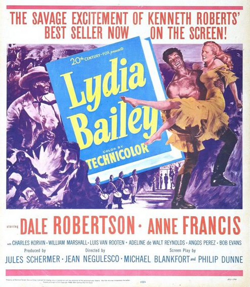 LYDIA BAILEY(1952) FILM POSTER 5