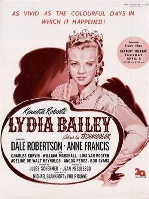 LYDIA BAILEY(1952) FILM POSTER 6