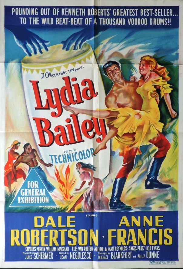 LYDIA BAILEY(1952) FILM POSTER 9