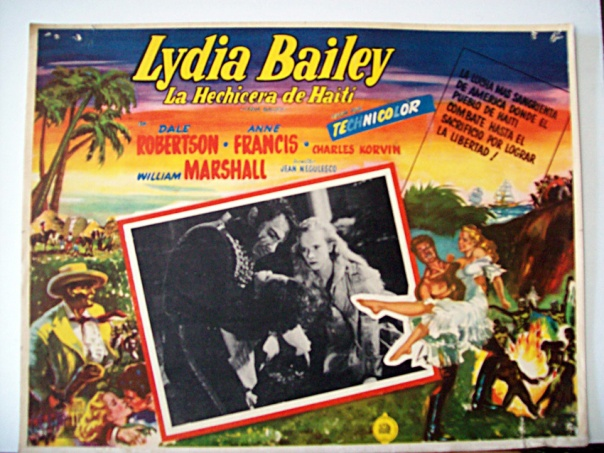 LYDIA BAILEY(1952) LOBBY CARD 1