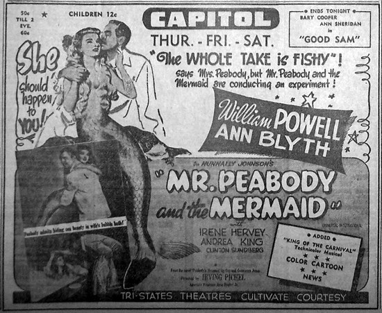 MR PEABODY & THE MERMAID(1948) ADV 2