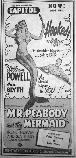 MR PEABODY & THE MERMAID(1948) ADV 3