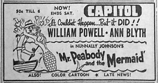 MR PEABODY & THE MERMAID(1948) ADV