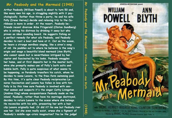 MR PEABODY & THE MERMAID(1948) DVD COVER 2