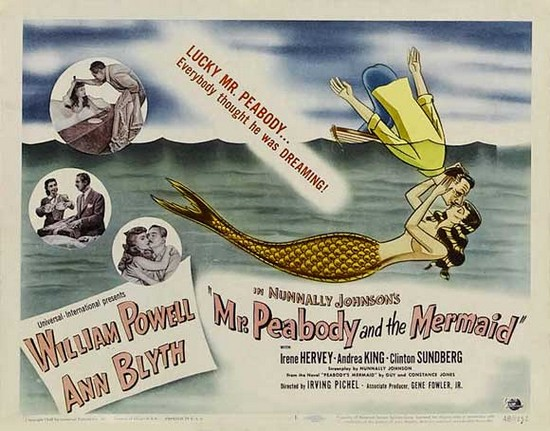 MR PEABODY & THE MERMAID(1948) FILM POSTER 1