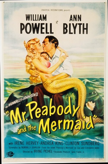 MR PEABODY & THE MERMAID(1948) FILM POSTER 2