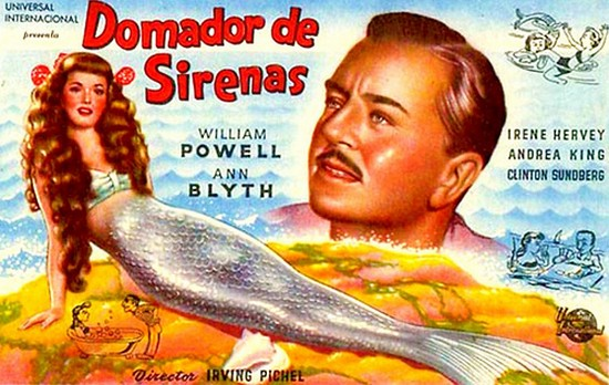MR PEABODY & THE MERMAID(1948) FILM POSTER 3