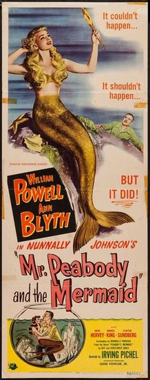 MR PEABODY & THE MERMAID(1948) FILM POSTER 4