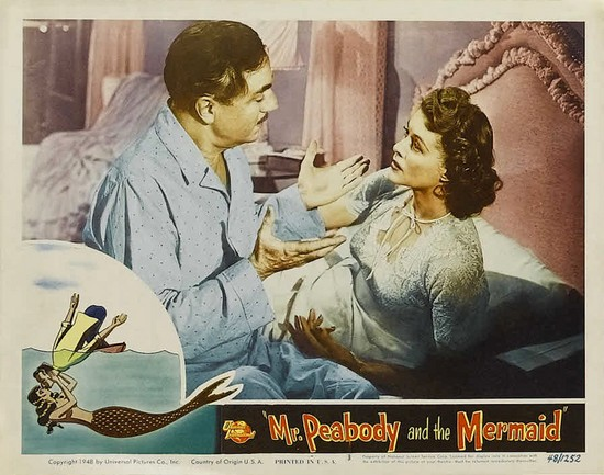 MR PEABODY & THE MERMAID(1948) LOBBY CARD 1