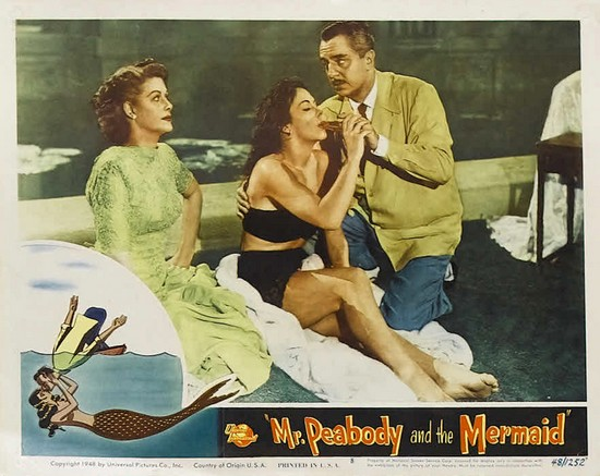 MR PEABODY & THE MERMAID(1948) LOBBY CARD 3