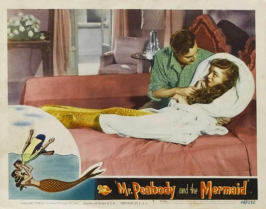 MR PEABODY & THE MERMAID(1948) LOBBY CARD 4
