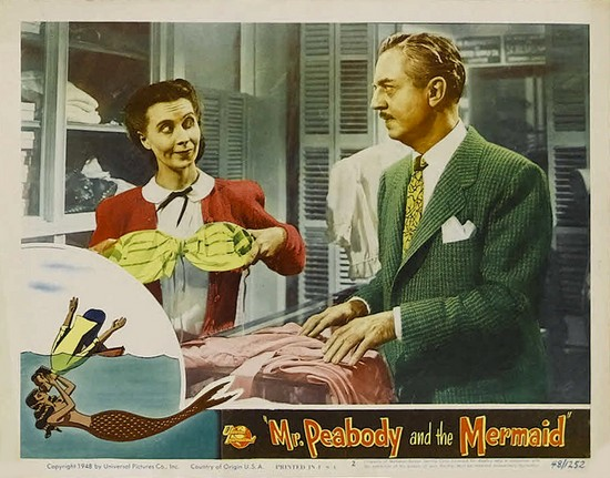 MR PEABODY & THE MERMAID(1948) LOBBY CARD 6