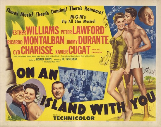 ON AN ISLAND WITH YOU(1948) FILM POSTER 10