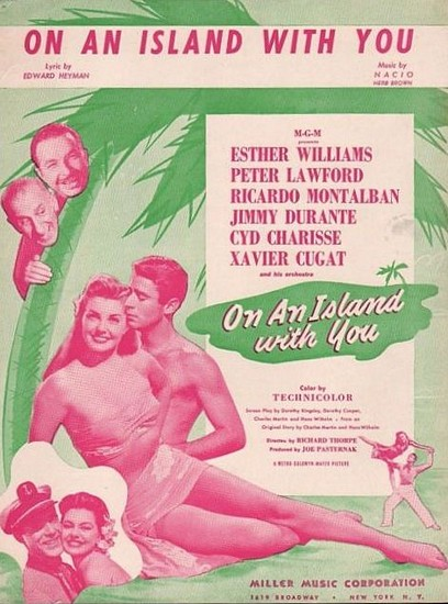 ON AN ISLAND WITH YOU(1948) FILM POSTER 12