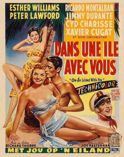 ON AN ISLAND WITH YOU(1948) FILM POSTER 4
