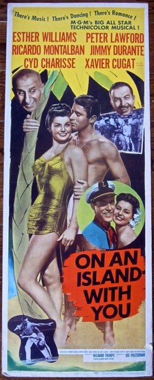 ON AN ISLAND WITH YOU(1948) FILM POSTER 5