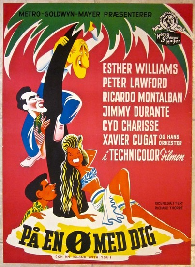 ON AN ISLAND WITH YOU(1948) FILM POSTER 6