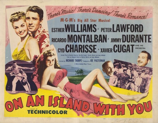 ON AN ISLAND WITH YOU(1948) FILM POSTER 9