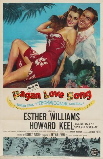 PAGAN LOVE SONG(1950) FILM POSTER 1