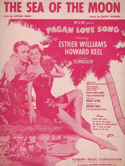 PAGAN LOVE SONG(1950) FILM POSTER 12