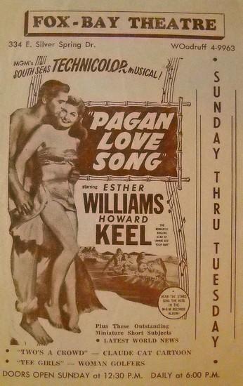 PAGAN LOVE SONG(1950) FILM POSTER 13