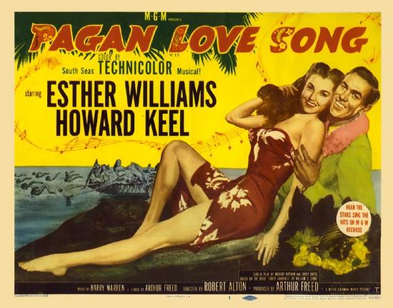 PAGAN LOVE SONG(1950) FILM POSTER 2