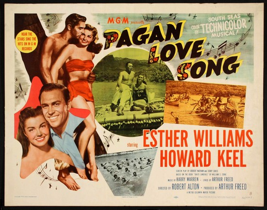 PAGAN LOVE SONG(1950) FILM POSTER 3