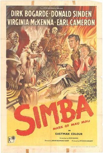 SIMBA(1955) FILM POSTER 2
