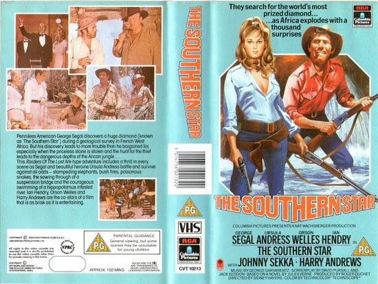 SOUTHERN STAR(1969) VHS COVER