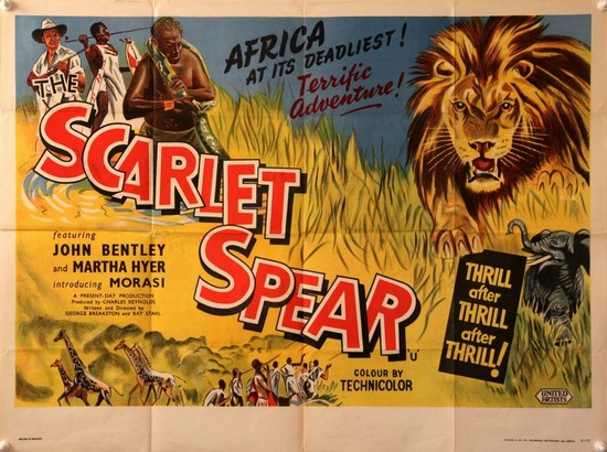 THE SCARLET SPEAR(1954) FILM POSTER 1
