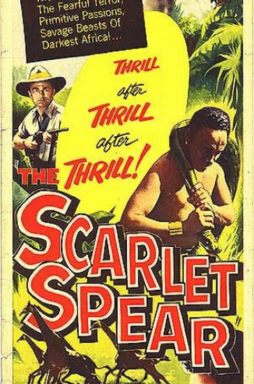 THE SCARLET SPEAR(1954) FILM POSTER 3