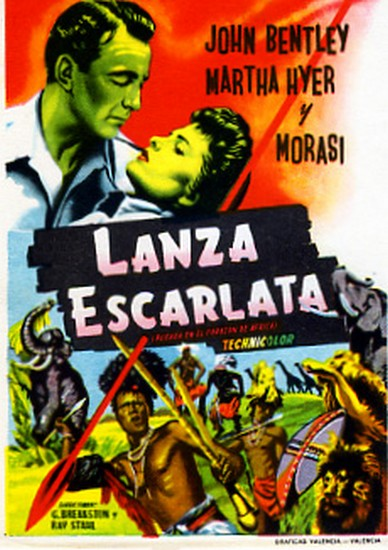 THE SCARLET SPEAR(1954) FILM POSTER 4
