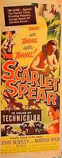 THE SCARLET SPEAR(1954) FILM POSTER 9