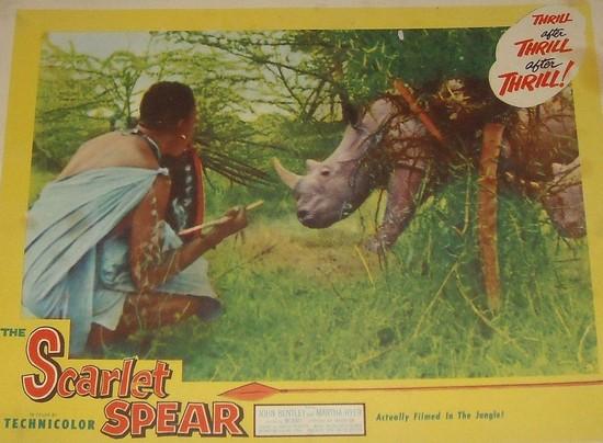 THE SCARLET SPEAR(1954) LOBBY CARD