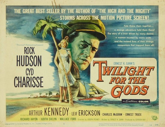 TWILIGHT FOR THE GODS(1958) FILM POSTER 8