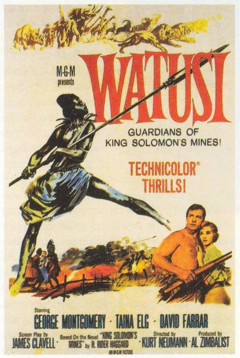 WATUSI(1959) FILM POSTER 1