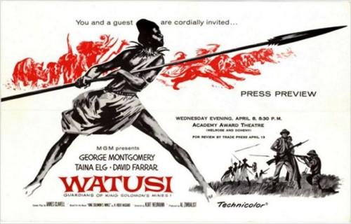 WATUSI(1959) FILM POSTER 4