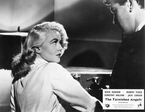THE TARNISHED ANGELS [US 1951] DOROTHY MALONE AND ROCK HUDSON  A UNIVERSAL INTERNATIONAL